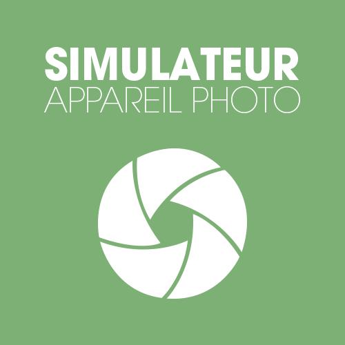 Simulateur de fonctionnement d'un appareil photo numérique et argentique, jeu et quizz photo pour apprendre
